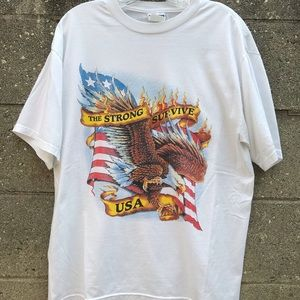 The strong survive USA American eagle Flame Shirt